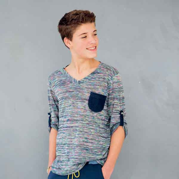 Knippie 0214 - 32 V-hals Shirt