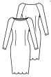Knipmode 1119-18 Jurk